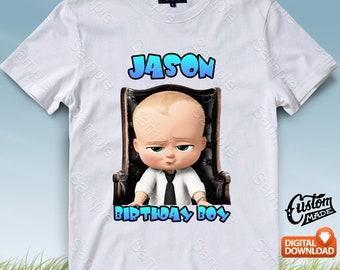 Boss Baby Iron On Transfer, Boss Baby Birthday Shirt DIY, Boss Baby Shirt Design, Boss Baby Printable, Boss Baby, Personalize, Digital Files