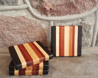 Handmade Exotic Wood Coaster Set