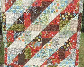 Handmade Modern Retro Patchwork Quilt