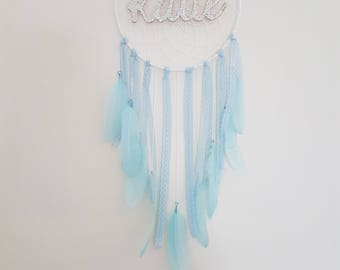 Baby blue personalised dreamcatcher