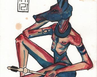 ORIGINAL ARTWORK - Anubis