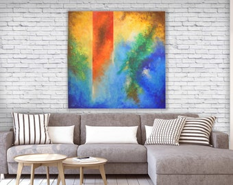 Multicoloured abstract canvas