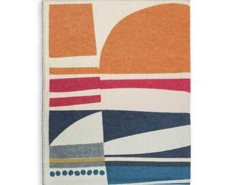 Saaristo 'Archipelago' Merino Lambswool Blanket by Sanna Annukka. Nordic Folk. Finnish Design.