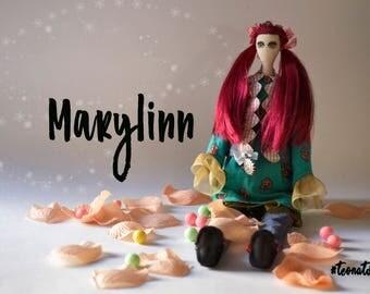 Handmade doll Marylinn - Textile Doll - Tilda style doll - Interior doll - Poupée en tissu - Poupée création - Poupée d'intérieur