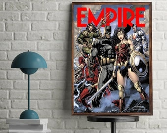 Justice League Empire Cover movie animated poster dc superheroes