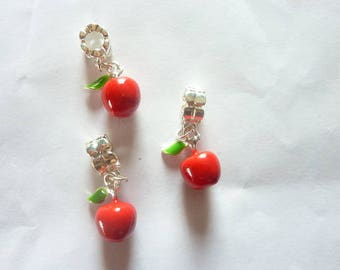 Apple charms 3D set of 3