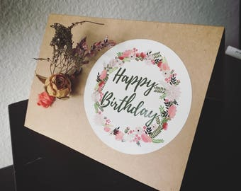 Happy Birthday Message Card