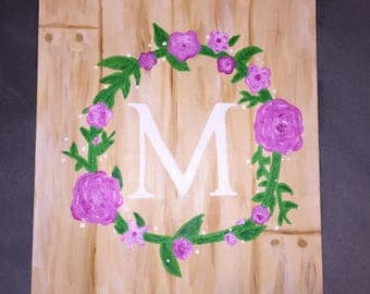 Light Monogram Wreath