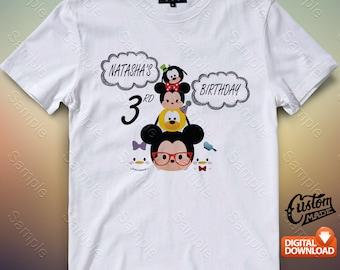 Tsum Tsum Iron On Transfer, Tsum Tsum Birthday Shirt DIY, Tsum Tsum Shirt Designs, Tsum Tsum Printable, Personalize, Digital Files