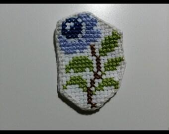 Blue rose patch