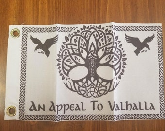 savage appeal to valhalla camp flag