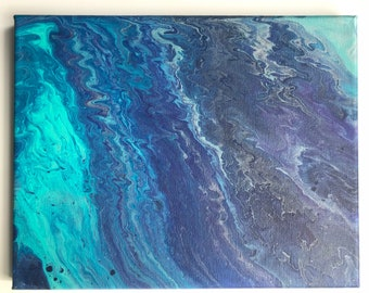 Abstract Paint Pour 06