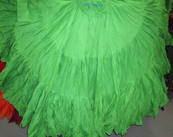 Beautiful Emerald Green 25Yard Tribal Gypsy ATS Skirt