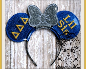 BiG LiTTLE SiSTeR DDD Sorority (5 Piece) Mr Ms Mouse Ears Headband ~ In the Hoop ~ Downloadable DiGiTaL Machine Emb Design by Carrie