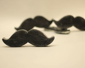 Black organic marvelous mustache soap