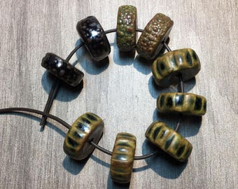 Handcrafted Ceramic Bead Bundle Assortment