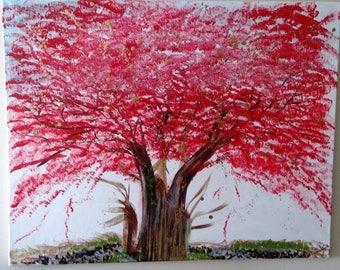 Golden Red Tree