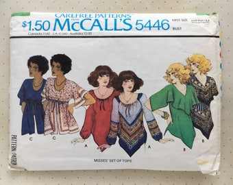 1977 McCall's Scarf Top Pattern No. 5446
