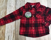 Toddler Boy Flannel with Patch- 3 styles to choose
