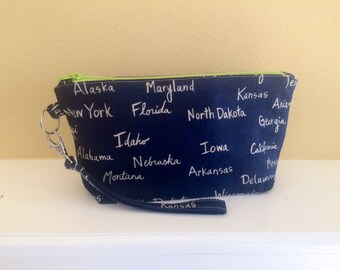 The Essential Zipper Wristlet- United States