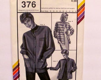 Stretch and Sew Misses' Cardigans Pattern 376