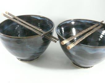 Large Pho Noodle Bowls Ceramic Rice Bowl Chopstick Bowl In