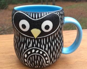 Modern Porcelain Penguin Bird Mug