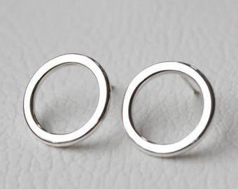 ON SALE TODAY Minimalist Geometric Earrings, Small Hoops, Studs, Silver Jewelry