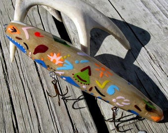 Reclaimed Driftwood Hand Crafted Fishing Lure