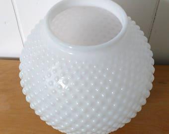 vintage hobnail milk glass globe shade