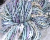 Art Yarn Handspun - FAIRYLAND Bulky, Textured, knit, weaving supplies, craft supplies, chunky, doll hair 100yds Free Shipping