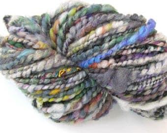 Handspun Yarn Textured Yarn Corespun Merino Silk Sparkle 226g 150 Yards