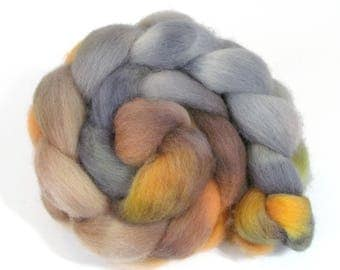 Hand Dyed Roving Combed Wool Top Whitefaced Woodland 100g WW36