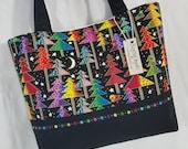 Laurel Burch Christmas Trees Holiday purse tote bag