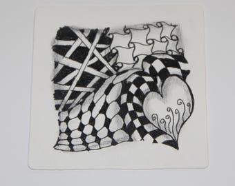 Tangled art tile