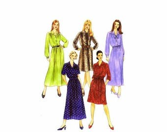 SALE Misses Dress in Two Lengths McCalls 3394 Sewing Pattern Full Figure Size 14 - 16 - 18 - 20 Bust 36 - 38 - 40 - 42 Uncut