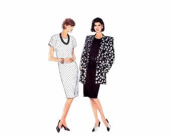 SALE Misses Chemise Dress Unlined Jacket Simplicity 9552 Vintage Sewing Pattern Size 6 - 8 - 10 - 12 - 14 Uncut