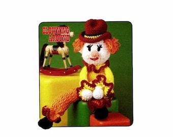 SALE Rusty Rodeo Clown Clowning Around Crochet Pattern Annie's Pattern Club