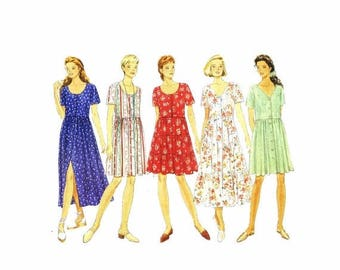 SALE Butterick 3844 Misses Raised Waist Flared Dress Sewing Pattern Size 6 - 8-10 - 12 - 14 UNCUT