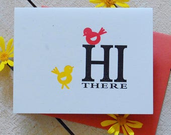 Hi There Letterpress Note Cards
