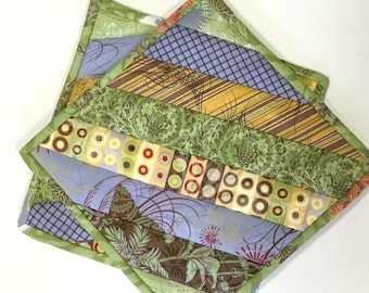 Pot Holders Hot Pads Strip Quilted Kitchen Cooking Country Woodland Modern