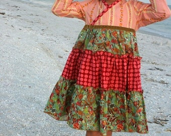 SALE STORE CLOSING Peachy Twirly Dress - Ready to Ship