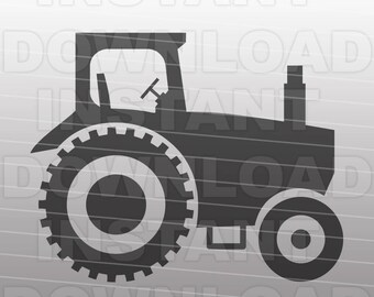 Farm Tractor SVG File Cutting Template-Vector Clip Art for Commercial and Personal Use-Download-Cricut,Cameo,Explore,SCAL,Decal