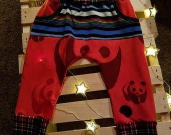 Panda Stripe Adjustable Baby Jogger Pants