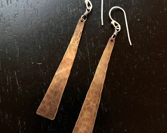 Medium Hammered Brass Tapers