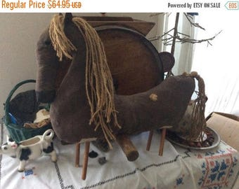 CustomerAppreciationSale PrimitiveDoll,  Horse, Primitive Decor