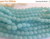 SALE 15% off Vintage glass beads (12) Japanese Japan milky Pastel blue bumpy baroque bads Miriam Haskell 10mm (12)