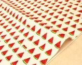 Japonais tissu pastèque - naturel, rouge, vert - 50 cm