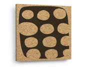 MID CENTURY MODERN Abstract Mix & Match Cork Decor Art Tiles Or Kitchen Trivet - Wall DéCork