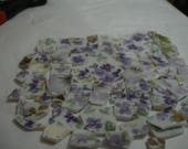 RESERVED FOR BUGSBY Supplies - Mosaic Tile - Purple flowers with accent tiles